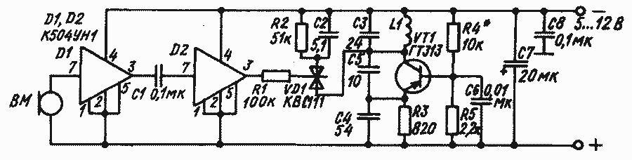 Схема радиомикрофона